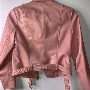 Zara Jackets & Coats - ZARA PINK FAUX LEATHER JACKET